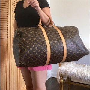 Authentic Louis Vuitton Keepall 55 unisex bag